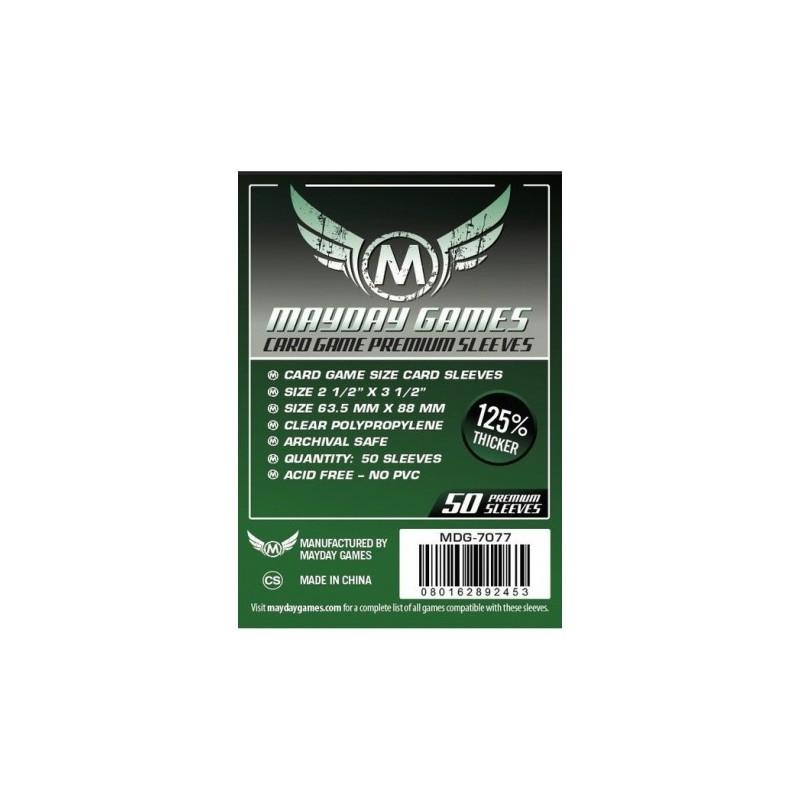 [7077] Mayday Games Premium Card Game Sleeves Dark Green (Pack of 50) (63.5x88mm)